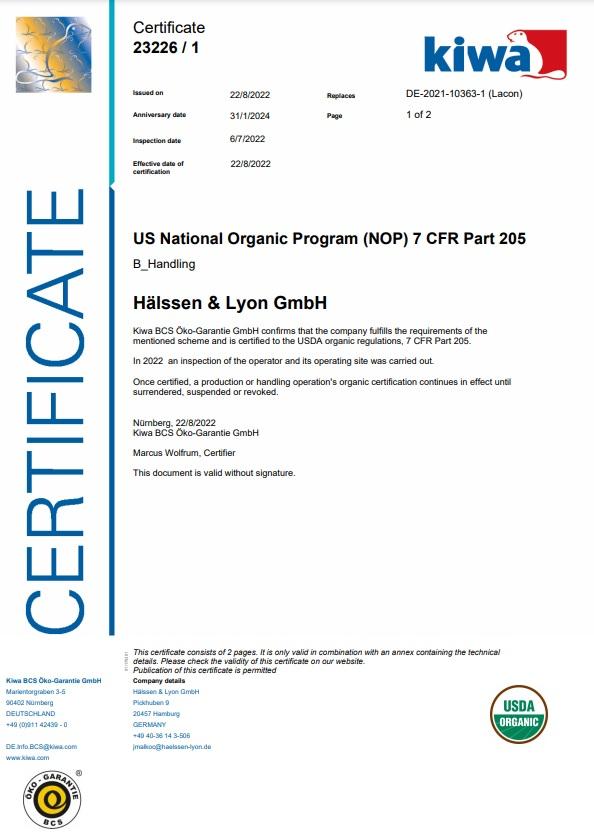 Qualitätssicherung & Zertifikate / Hälssen & Lyon : the world of tea ...